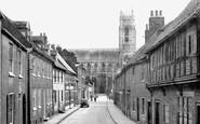 Beverley, The Minster From Highgate c.1955