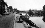 Bewdley, The River And Bridge c.1965