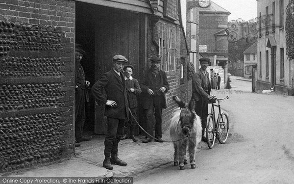 Bexhill, Men And Donkey 1912