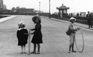 Bexhill-on-Sea, Children Playing With Hoops 1904