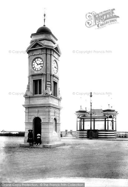 Bexhill On Sea, Clock Tower And Bandstand 1904