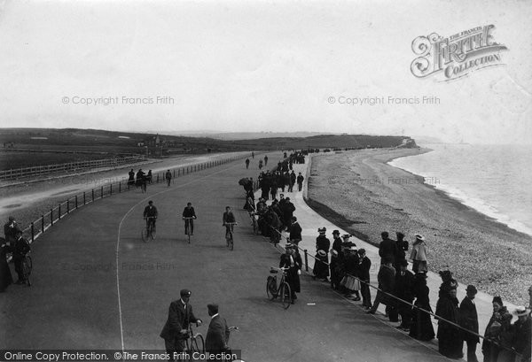 Bexhill On Sea, Cycle Boulevard From Chalet 1897