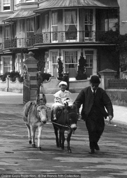 Bexhill On Sea, Donkey Ride 1912