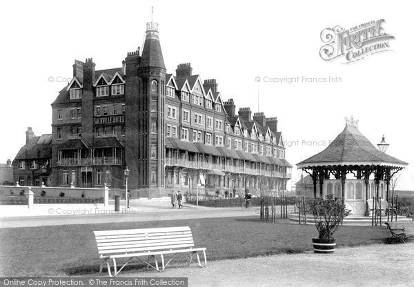 Bexhill On Sea, Sackville Hotel And Kiosk 1897