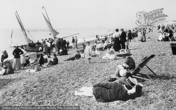 Bexhill On Sea, The Beach 1910