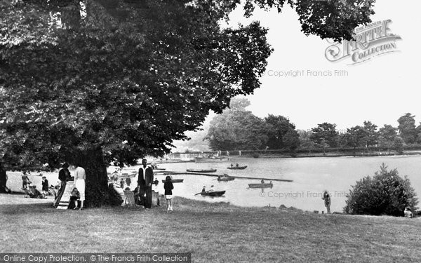 Bexleyheath, The Lake, Danson Park c.1955