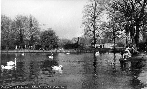 Bexleyheath, The Lake, Danson Park c.1955