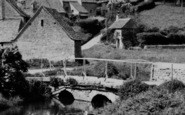 Bibury, Footbridge, Arlington Row c.1950