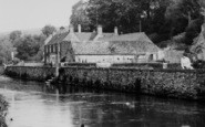 Bibury, The River Coln And Swan Hotel c.1965