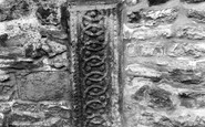 Bibury, The Saxon Stone In North Side Of The Church Wall c.1960
