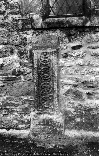 Bibury, The Saxon Stone In The North Side Of The Church Wall c.1960