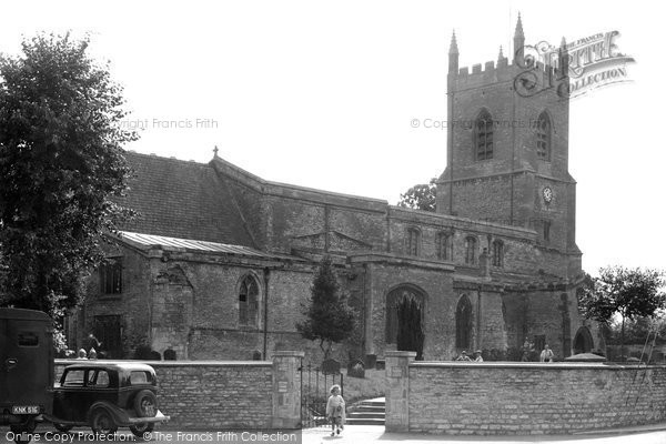 Bicester, St Edburg's Church c.1955