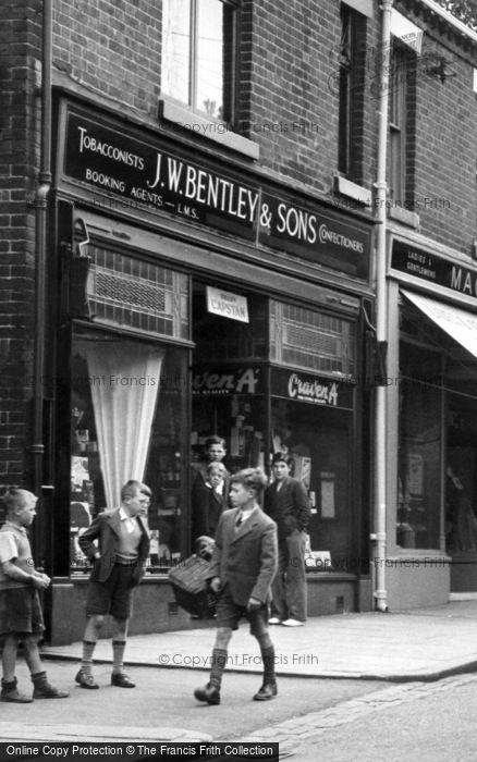 Biddulph, Boys In The High Street c.1955