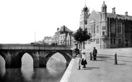 Bideford, Bridge and Free Library 1906