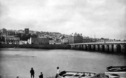 Bideford, Bridge And Town 1890