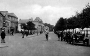 Bideford, Cyclist On The Promenade 1919