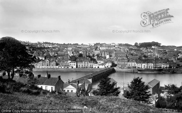 Photo of Bideford, from across the River Torridge 1899