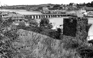 Bideford, Long Bridge And The Tower c.1955