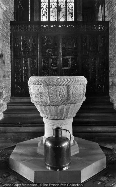 Bideford, St Mary's Church Font 1906