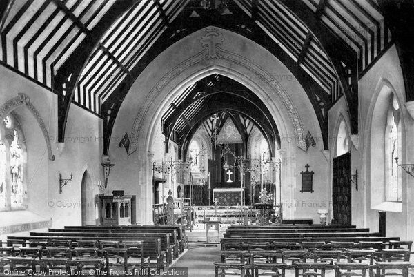 Bideford, St Peter's Church Interior 1906