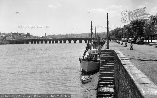 Bideford, The Quayside c.1962