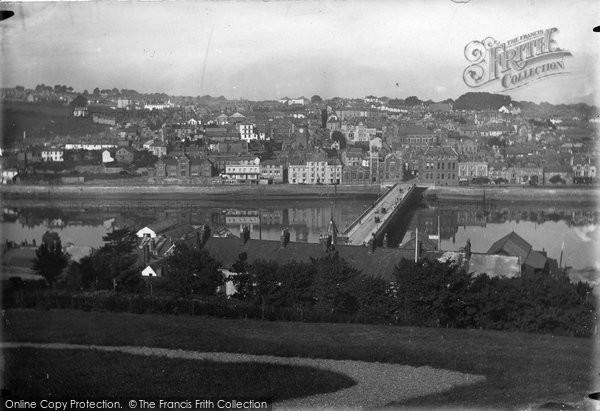 Bideford, Town And Bridge 1923