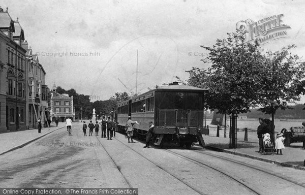 Bideford, Train On The Quay 1906
