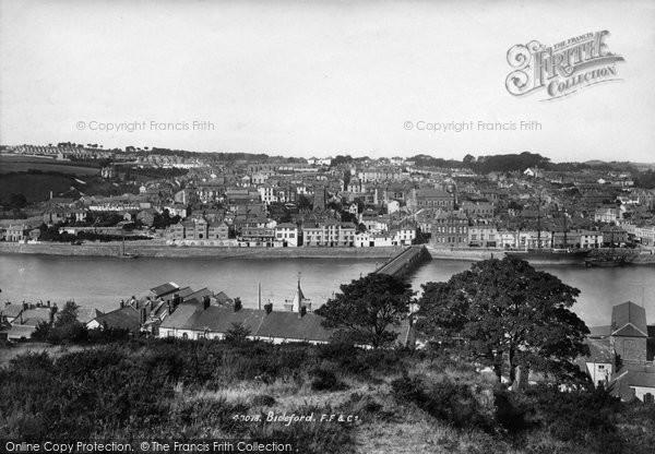 Bideford, View Across River Torridge 1899