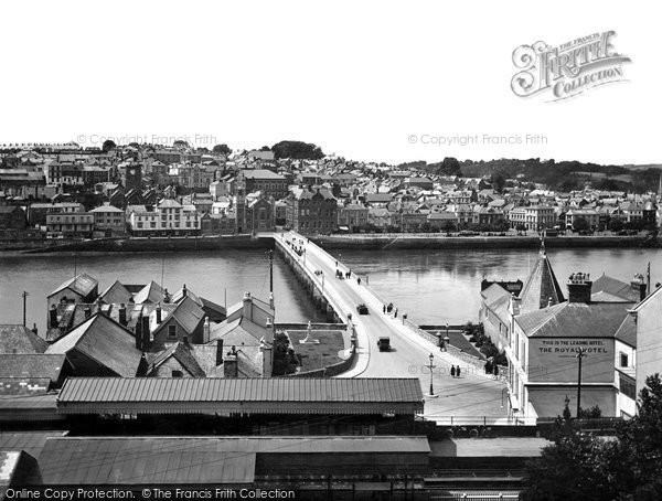 Bideford, View From The Station 1929