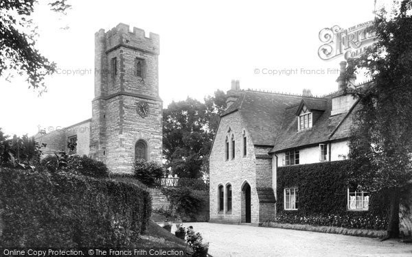 Bidford On Avon, St Laurence's Church And Vicarage 1910