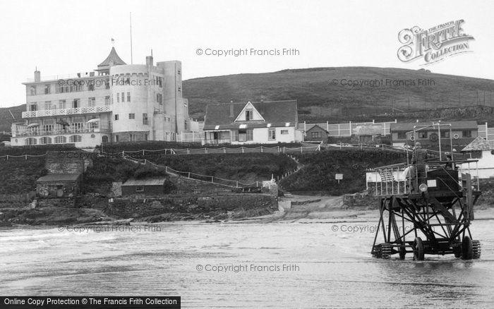 Bigbury On Sea, The Burgh Island Hotel And Tractor 1931
