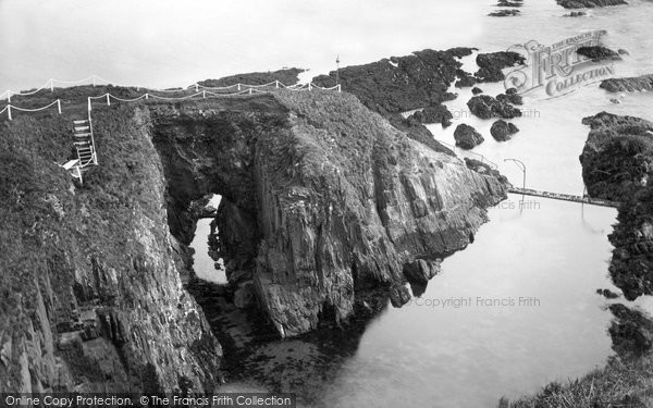 Bigbury On Sea, The Rock Arch, Burgh Island c.1935