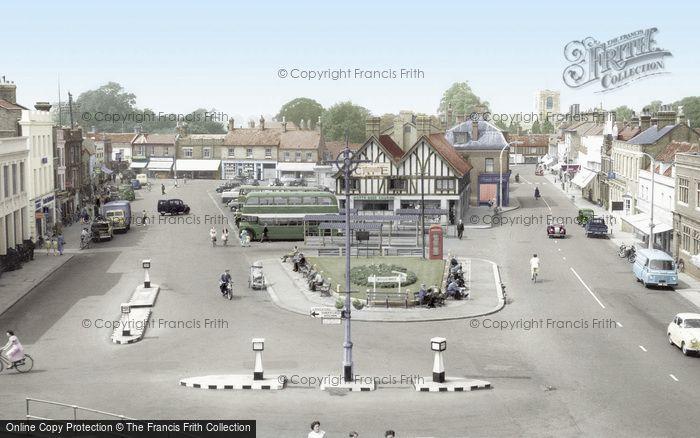 Biggleswade, Market Place c.1960