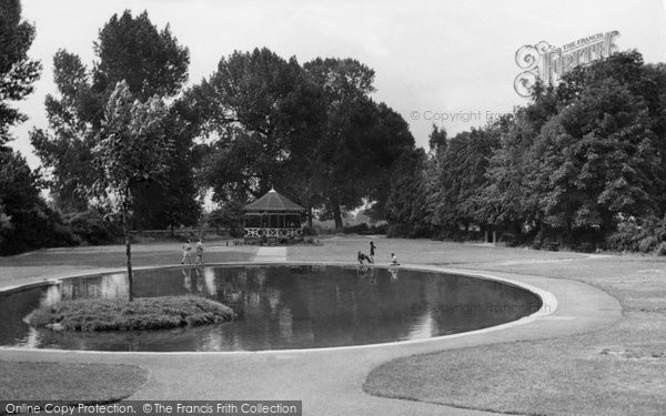 Biggleswade, Recreation Ground c.1955