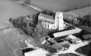 Bildeston, Aerial View Of The Church c.1960