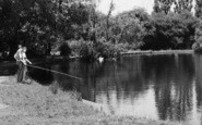 Billericay, Boys Fishing At Lake Meadows c.1960