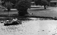 Billericay, Lake Meadows Park, Boating Lake c.1960
