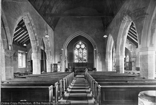 Billingshurst, St Mary's Church Interior 1909