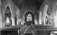 Billingshurst, St Mary's Church Interior 1909