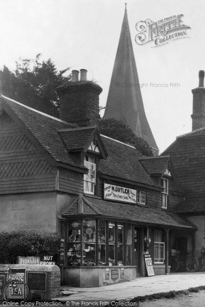 Billingshurst, The Shop, Church Hill 1932