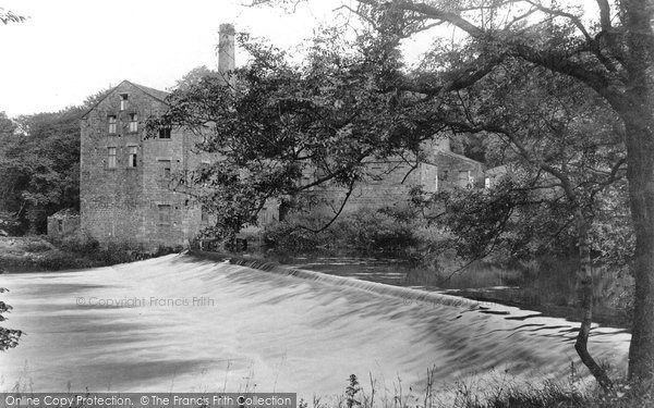 Bingley, Hurst Mill And Weir 1909