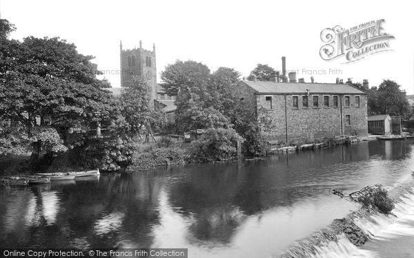 Bingley, River Aire And Bridge 1923