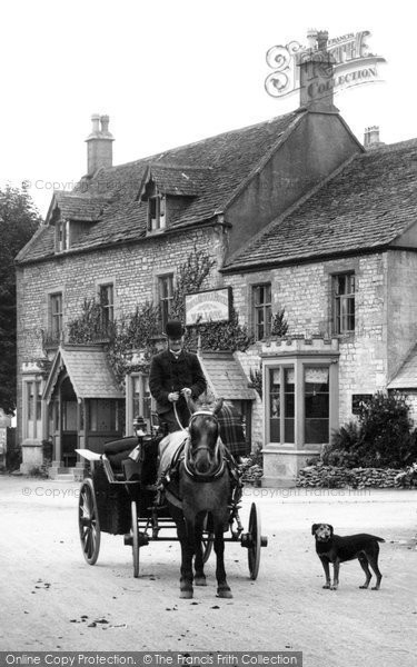 Birdlip, Horse And Carriage, George Hotel 1907