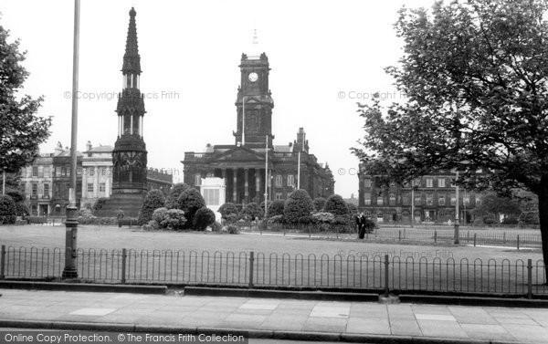 Birkenhead, Hamilton Square And City Hall c.1955