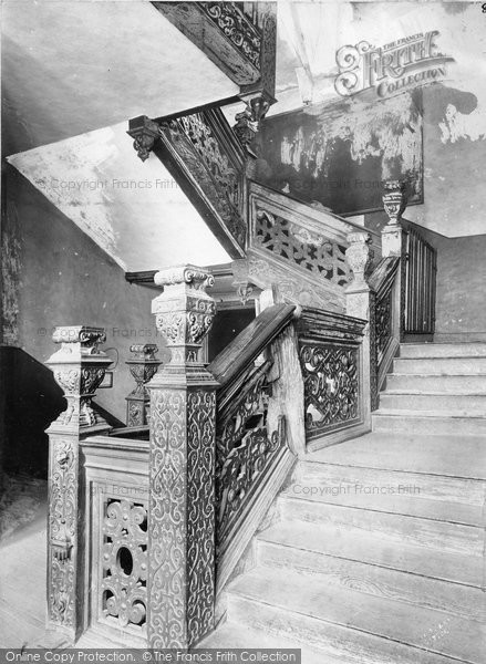 Birmingham, Aston Hall, Grand Staircase c.1900