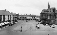 Bishop Auckland, Market Place And Town Hall c.1955