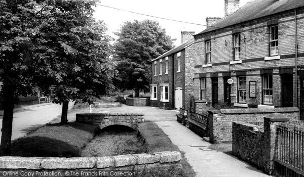 Photo of Bishop Monkton, the Village Stream and Post Office c1960
