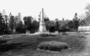 Bishops Stortford, Castle Gardens And War Memorial 1922