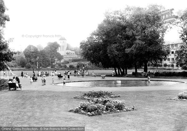 Bishops Stortford, Castle Gardens, Childrens Playground c.1955