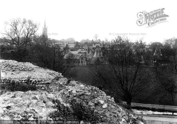 Bishops Stortford, From The Castle Mound 1909